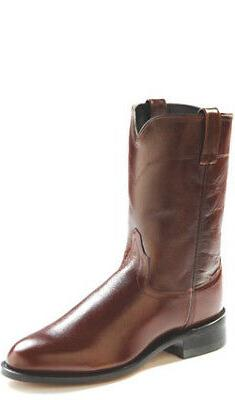 Old West Antique Brown Mens Corona Calf Leather Roper Toe Co
