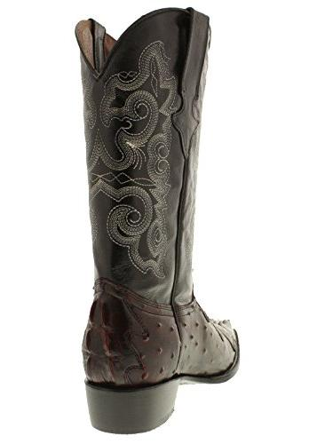 Team Black Cherry & Ostrich Leather Boots 13
