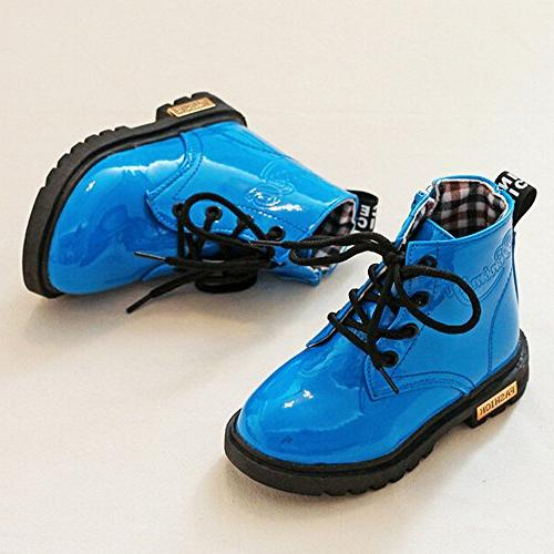 Boy's Waterproof Zipper Ankle Little Big