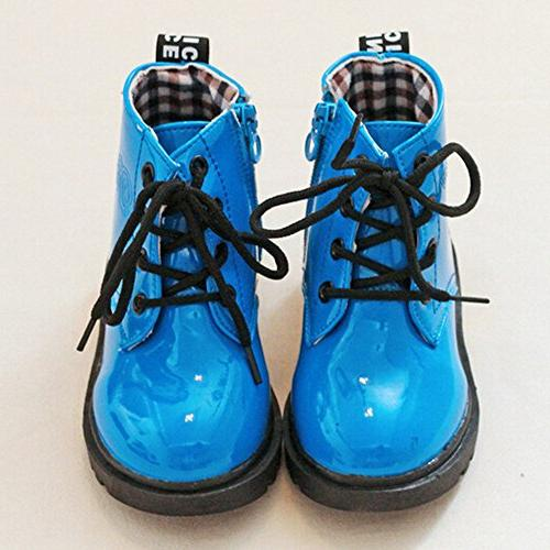 Boy's Waterproof Zipper Lace-Up Ankle Little