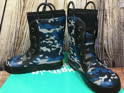 Western Chief Boys Blue Camo Neoprene Waterproof Insulated S