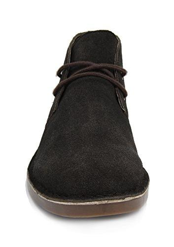 Bruno Marc Brown Leather Chukka Desert Ankle -