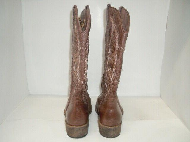 Coconuts by Western Women Sz 9 M, Brown leather