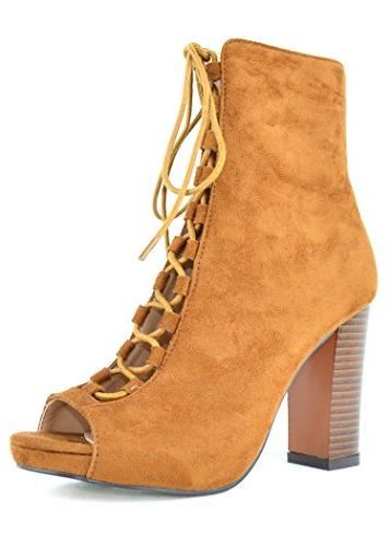 Chase & Lace-Up Booties with Heel