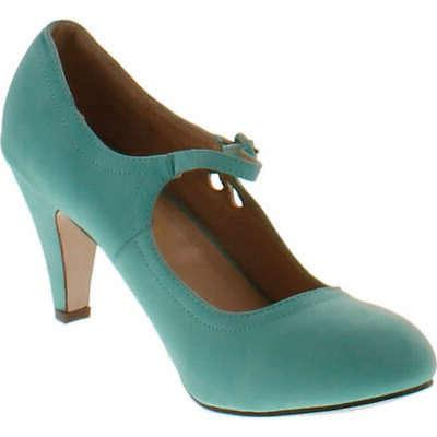 Chase And Mary T-Strap Heel,Mint,9