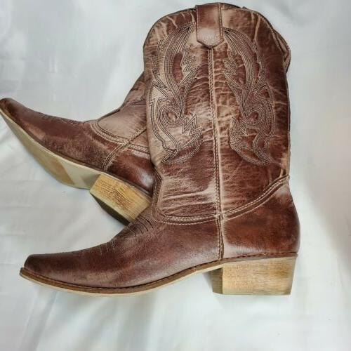 Coconuts Cowgirl Western Boots Size 8M Faux