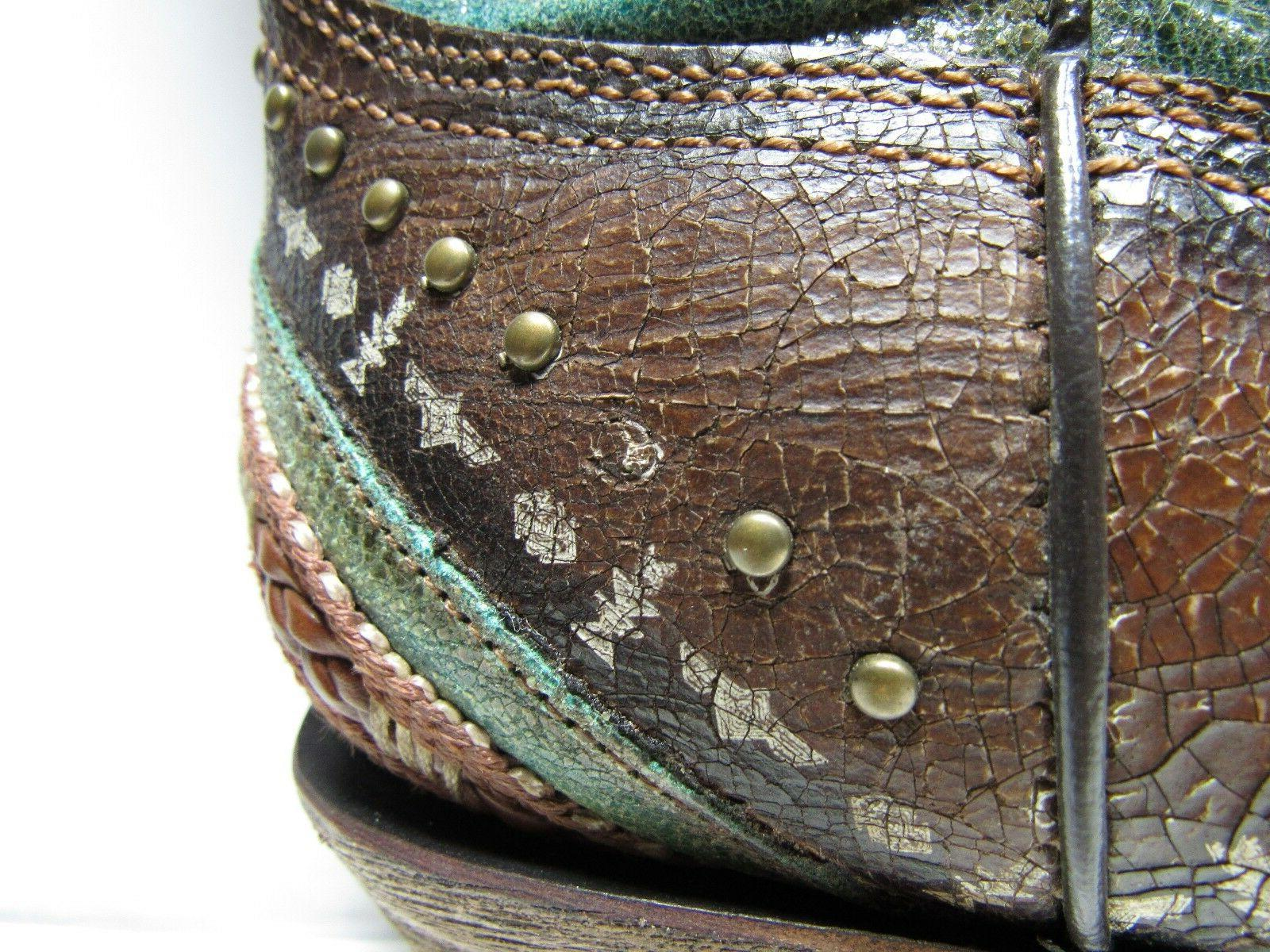Corral and Studs Snip Western Boots, Women's