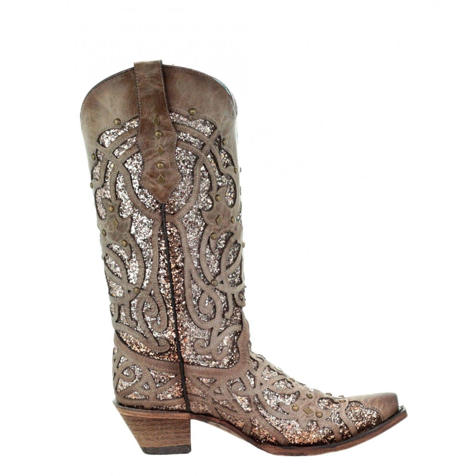 Corral Glitter Inlay Boots