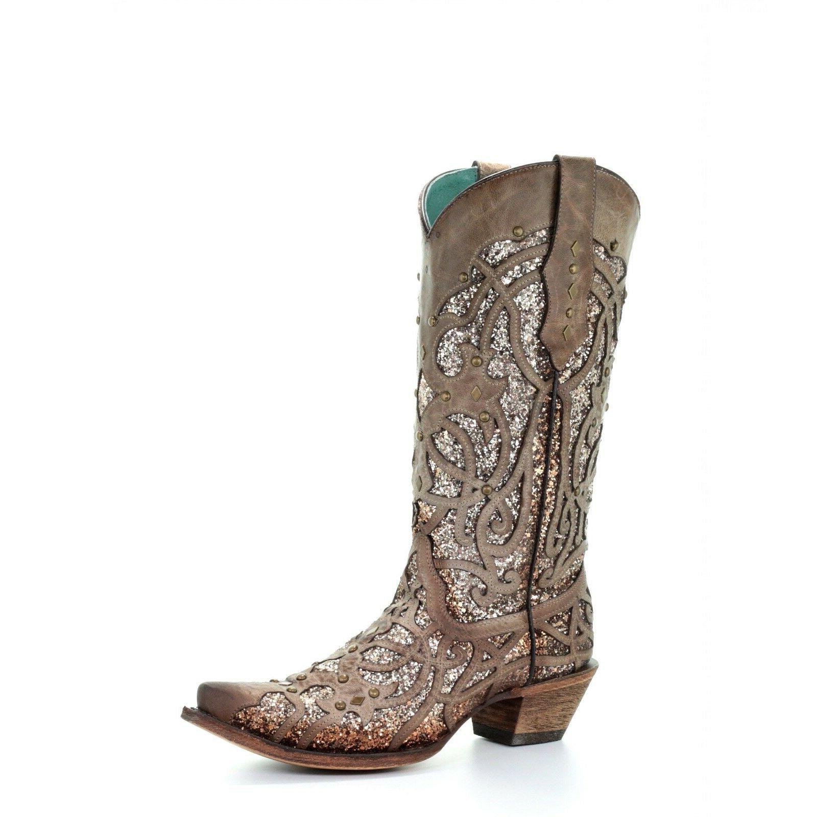 corral ladies orix glitter inlay and studded