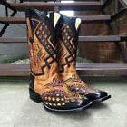 CORRAL MEN'S BLACK SADDLE OVERLAY SQUARE TOE WESTERN BOOTS G