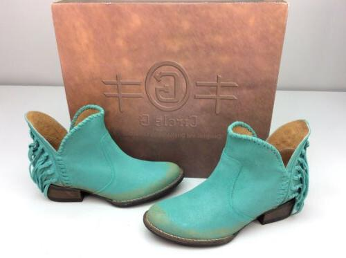 Corral Bootie Turquoise Size 7.5 Short