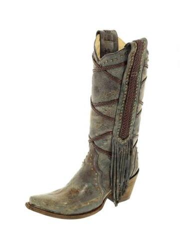 corral women s 13 inch blue brown