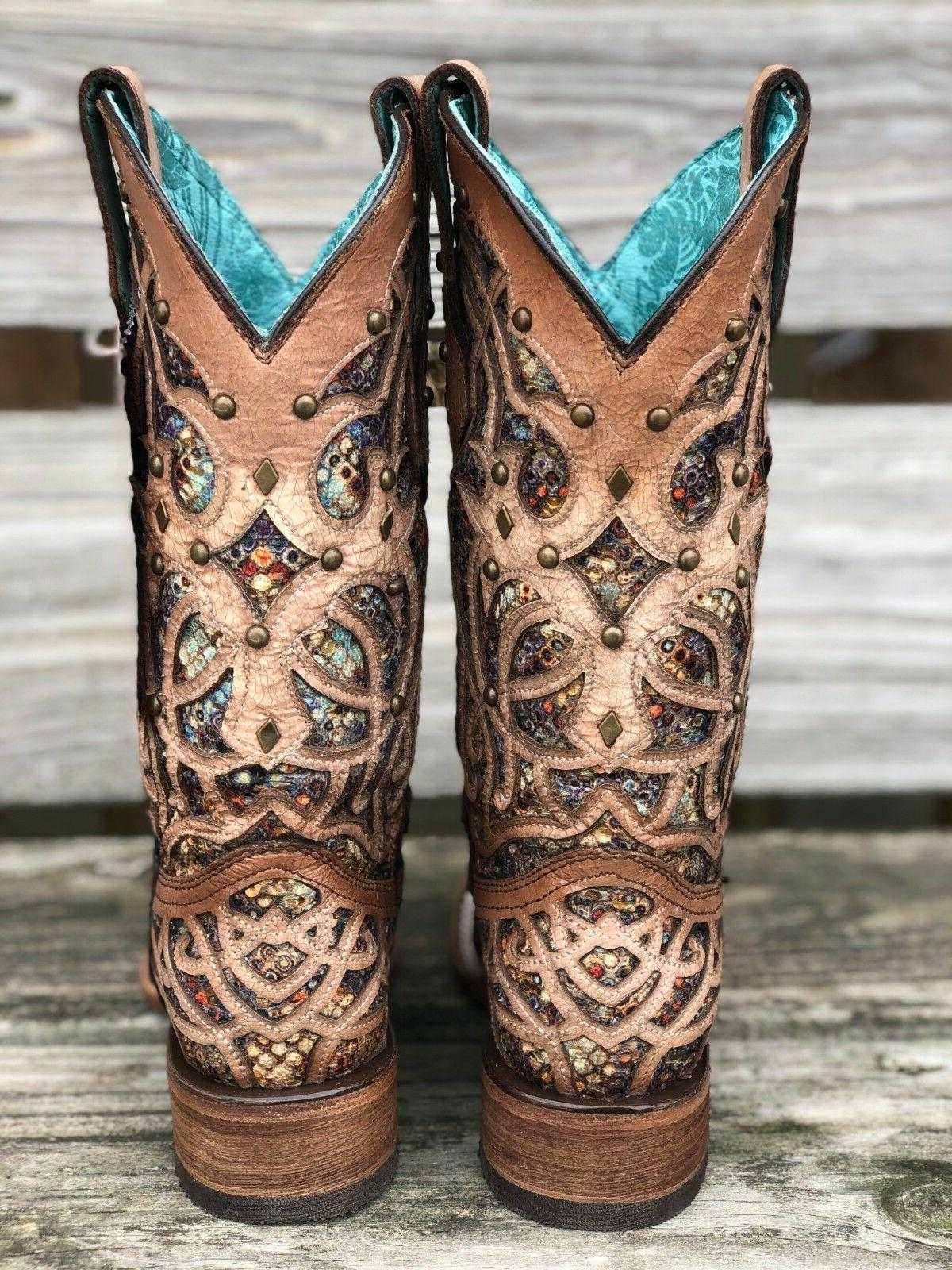 Corral Women's Multi Inlay Toe