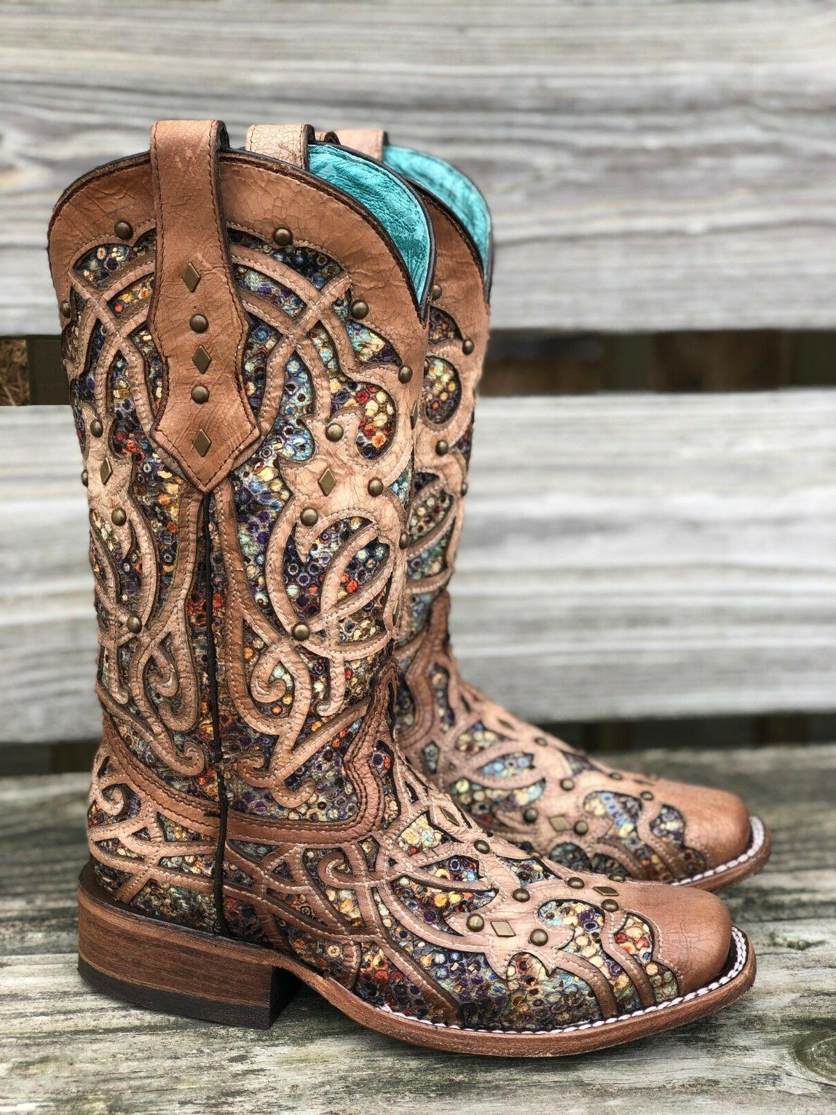 Corral Multi Color Toe Western
