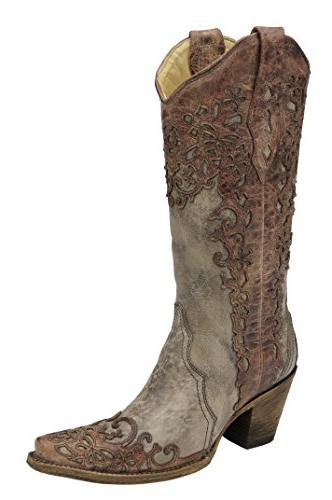 corral women s sand and cognac laser