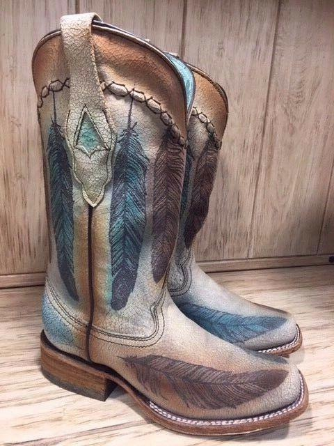 Corral Women's Sand Feather Toe Western Boots