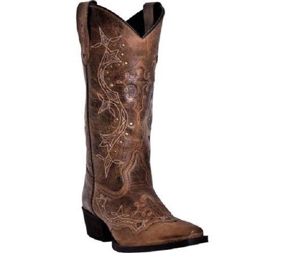 Laredo Women's Cross Point Leather Brown/Rust Knee-High Leat