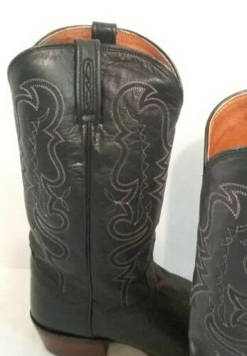 Dan Mens Western Cowboy Boots Pointed 11D- NWT