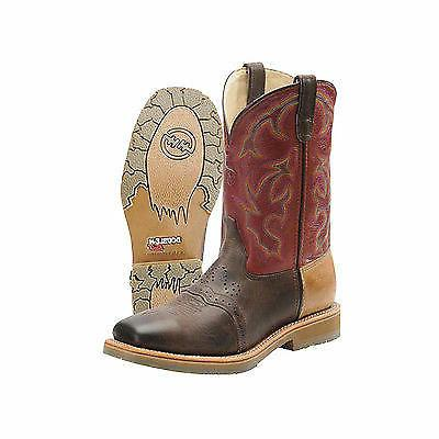 dh 3568 multicolor brown leather steeltoe western
