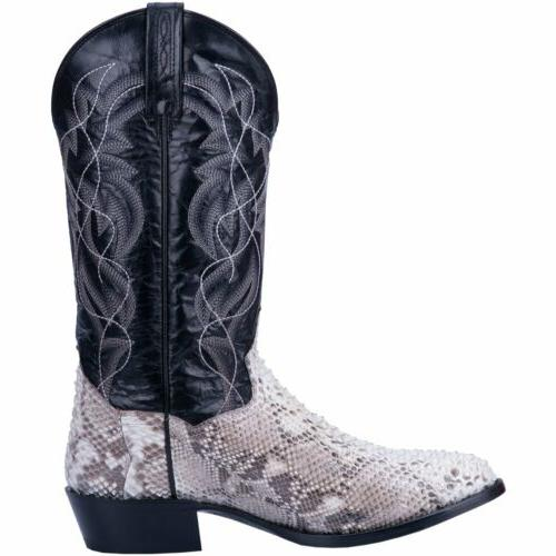 Dan DP3036 White Sly Python Tone Western Boots
