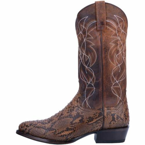 """Dan Post DP3037 Brown Python Leather 13"""" Round Boots"""