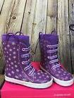 Western Chief Girls Purple Twinkle Star Neoprene Waterproof