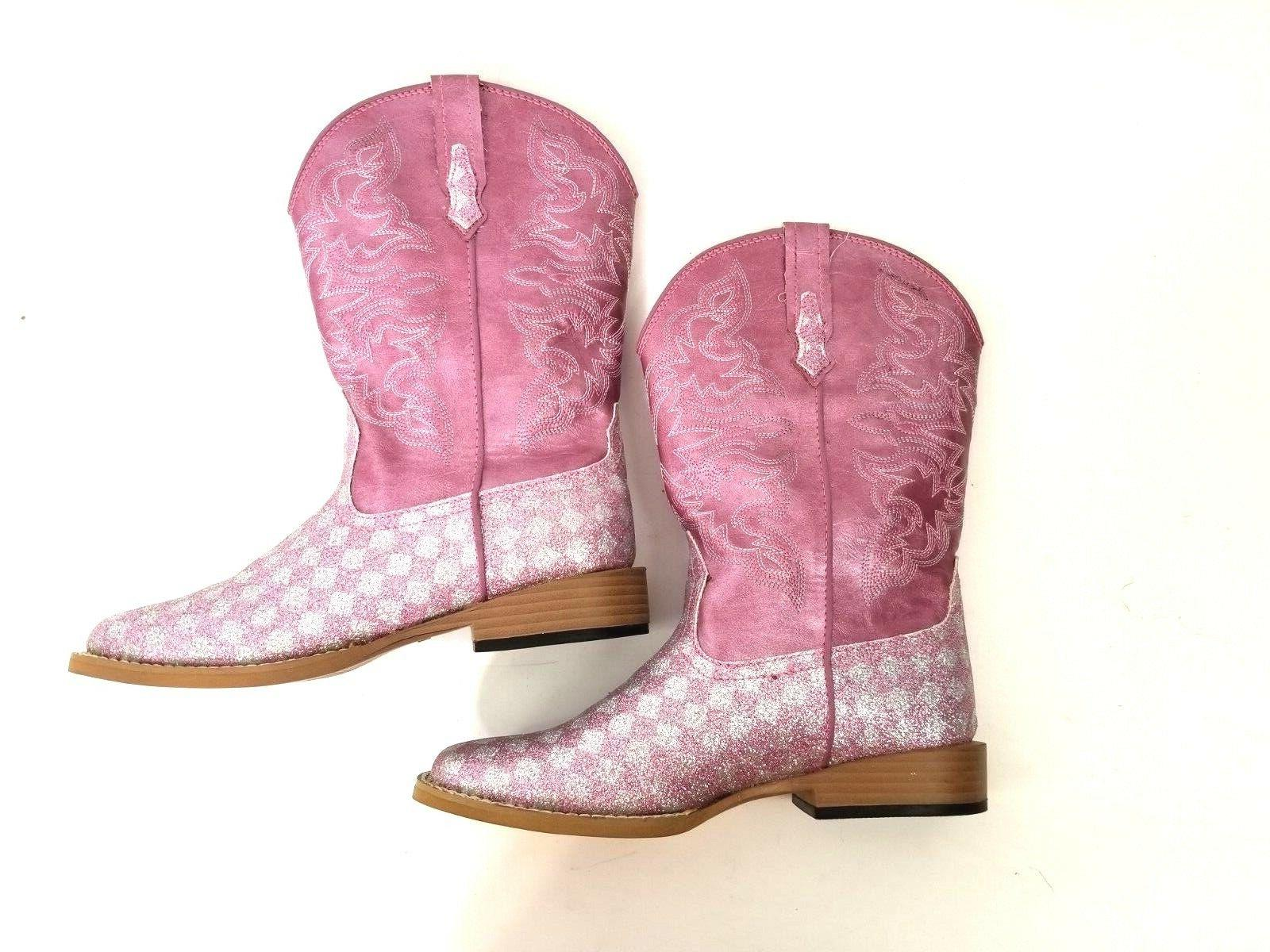 Roper Boots Size Checkered Pink