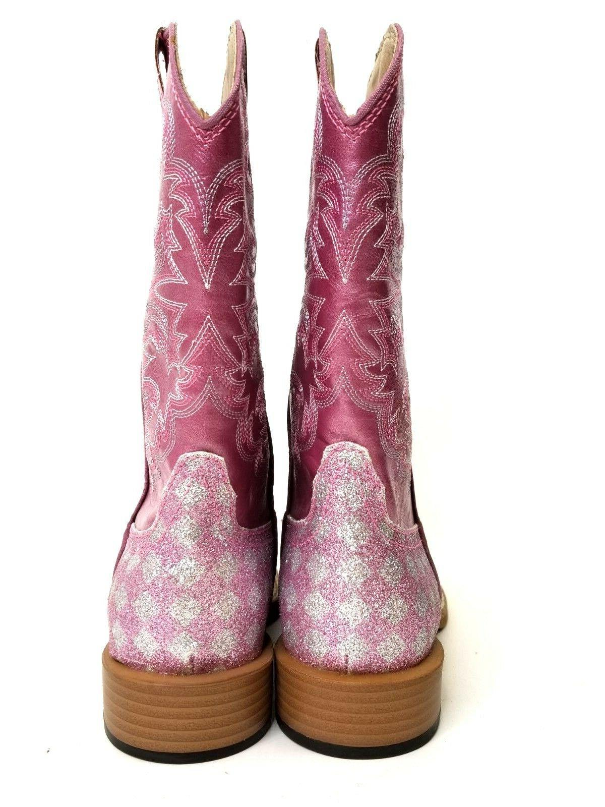 Roper Girls Boots Size 3 Pink