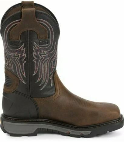 Justin New!! Square Steel Toe