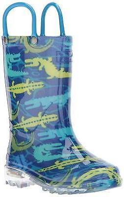 Kids Western Chief Boys light-up Mid-Calf Pull On Rain Boots