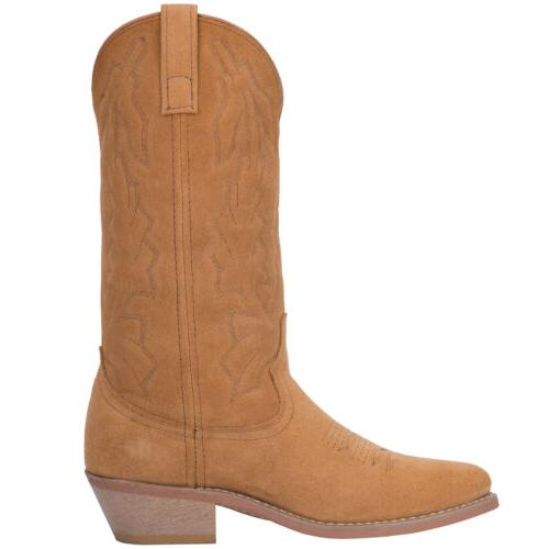 Laredo Mens Cowboy Boots Suede Embroidery Cushioned