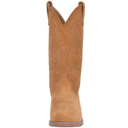 Laredo Cowboy Boots Suede Leather Embroidery Tan