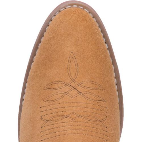 Laredo Mens Cowboy Suede Embroidery Cushioned