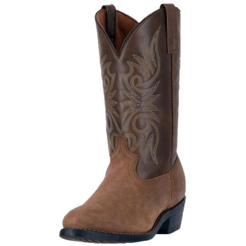 Laredo Mens Western Cowboy Boots Distressed Leather Embroide