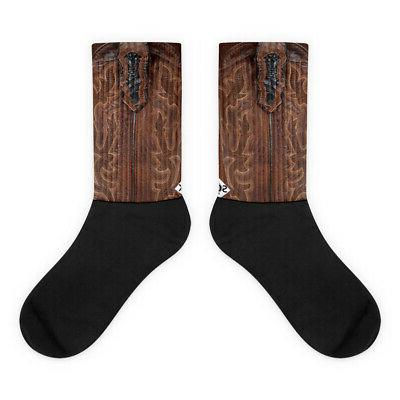 Leather Cowboy Comfortable Socks Cushioned