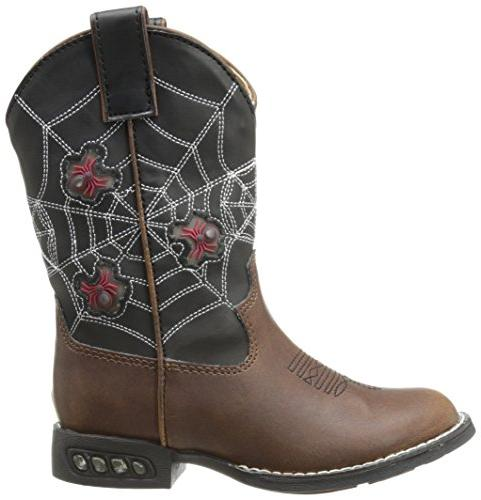 Roper Light Up Spiders Western Boot US Little