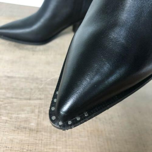SAM Women's Western Black Leather Boots Size 8.5M
