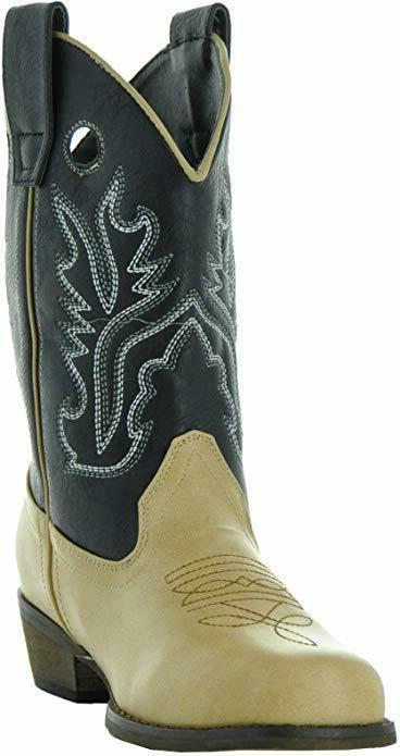 Country Boots Little Kids Two-Tone Square Cowboy Boots 3 Kid