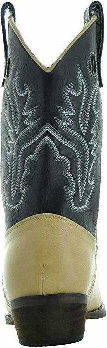 Country Love Boots Kids Two-Tone Toe Cowboy Kid