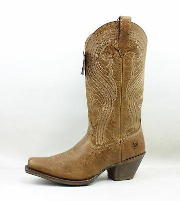 Women's Ariat Lively Western Boot, Size 8.5 M - Brown
