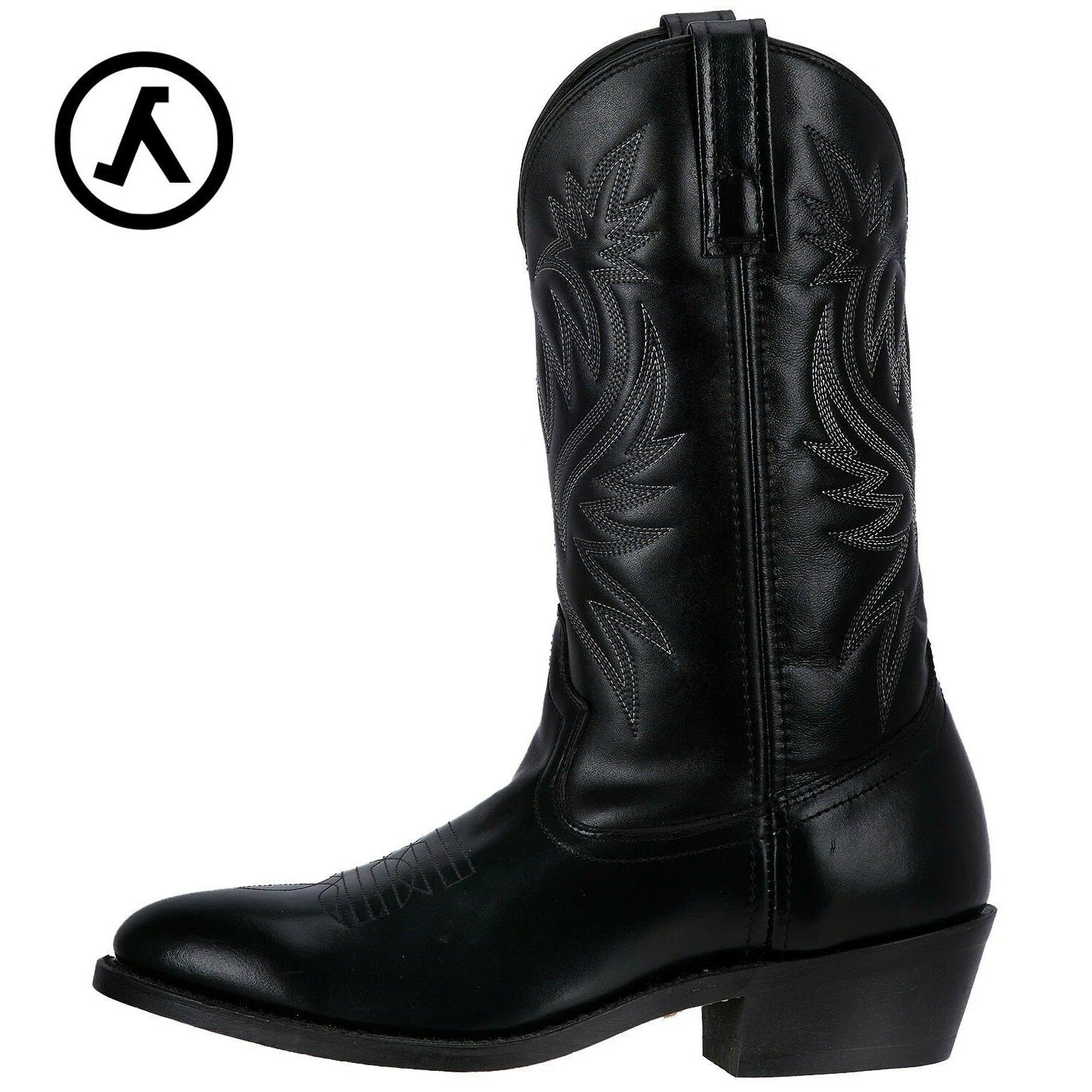"""LAREDO LONDON 12"""" R-TOE SUEDED OUTSOLE WESTERN COWBOY BOOTS"""