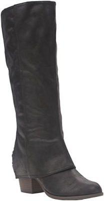Fergalicious Women's Lundry Boot Black Synthetic Suede Size