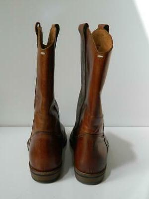 Maison Margiela Boots Brown Distressed Leather $995