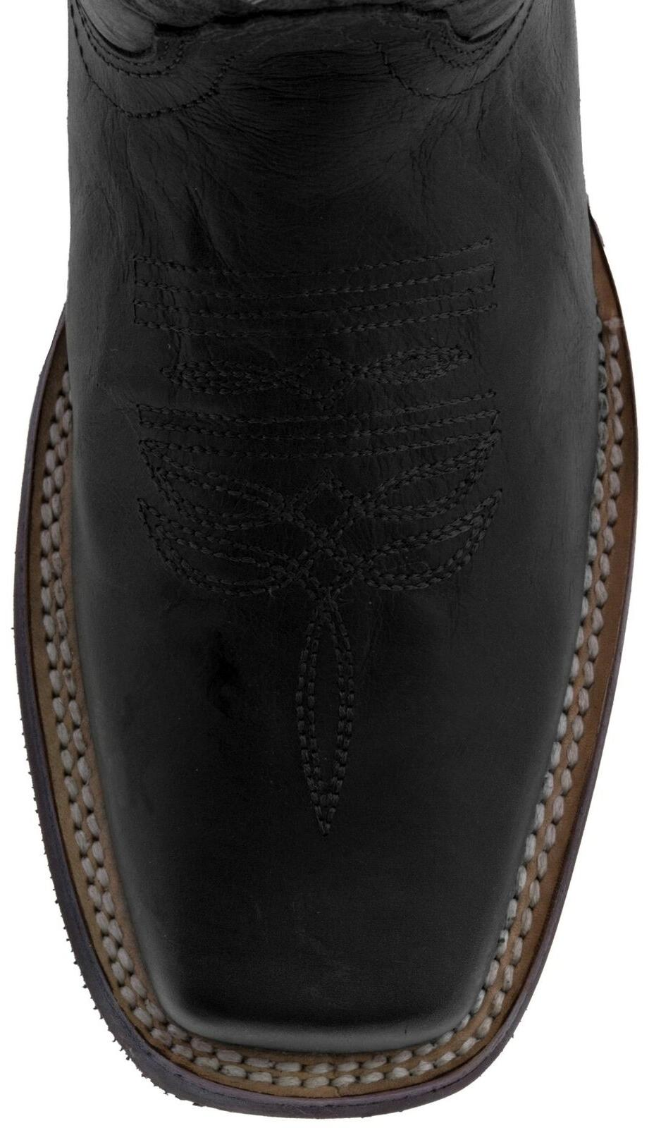 Mens Western Black Real Rodeo Square