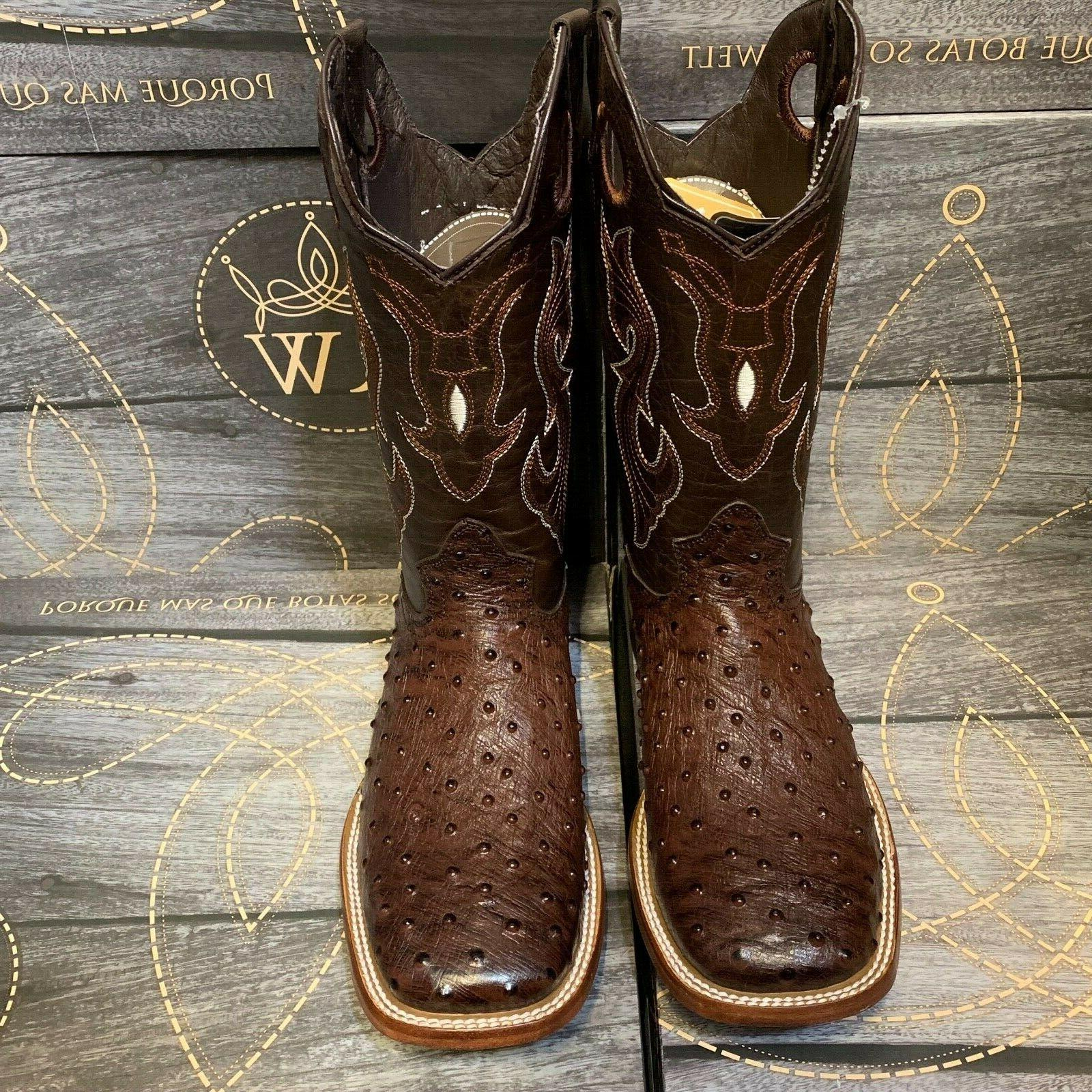 MEN'S BROWN LEATHER WESTERN COWBOY TOE