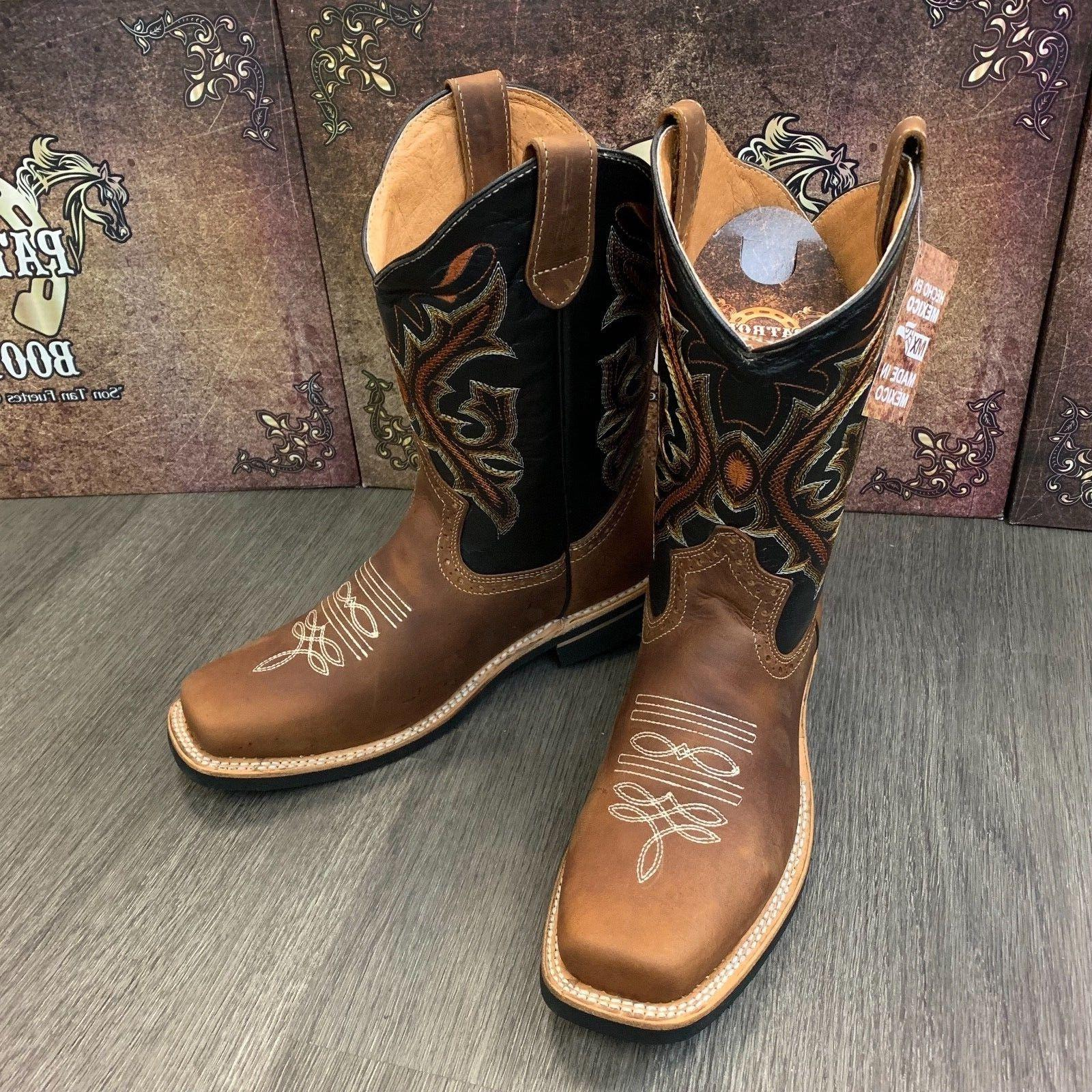 MEN'S BROWN WORK BOOTS REAL LEATHER