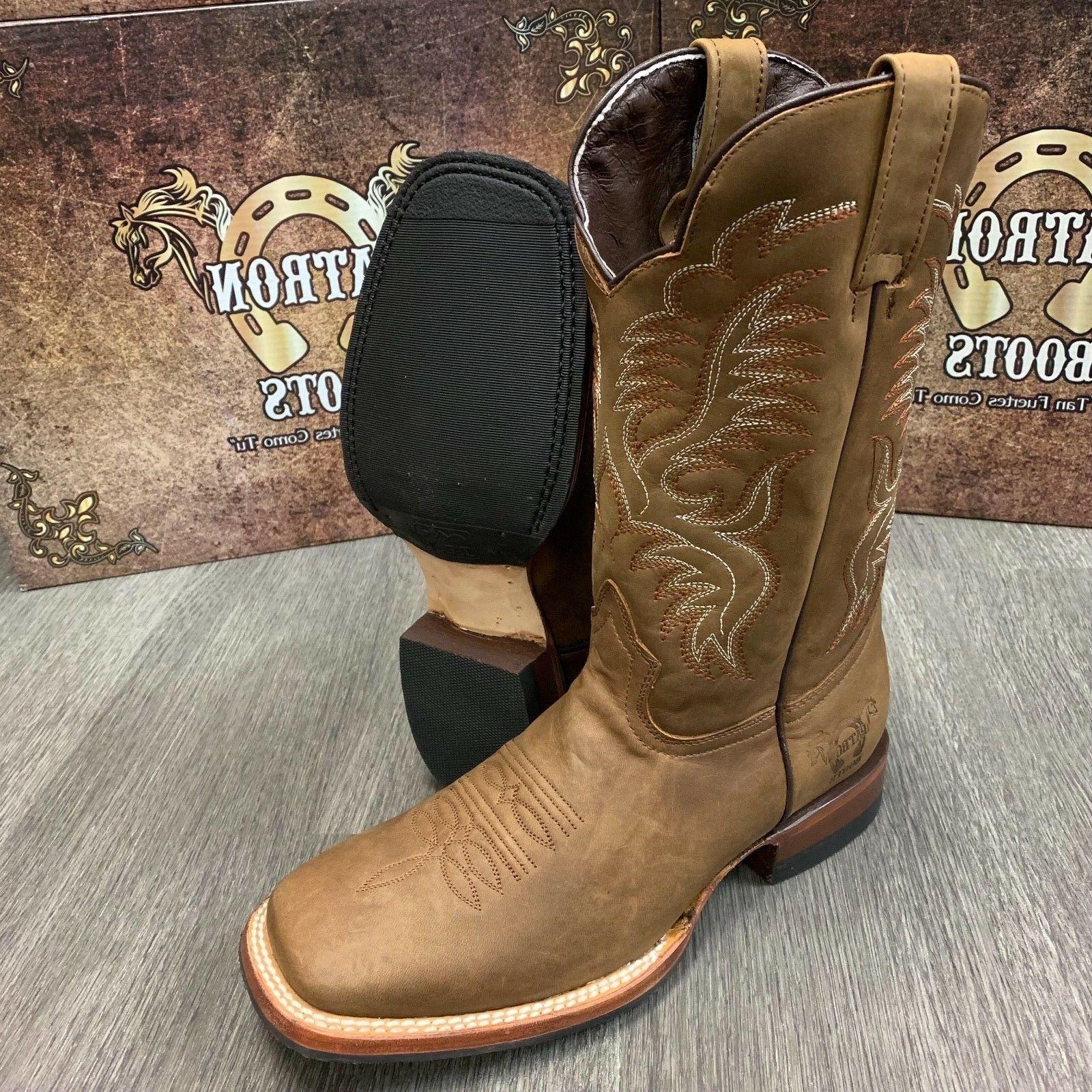 MEN'S WESTERN WIDE LEATHER SHAFT SOLES