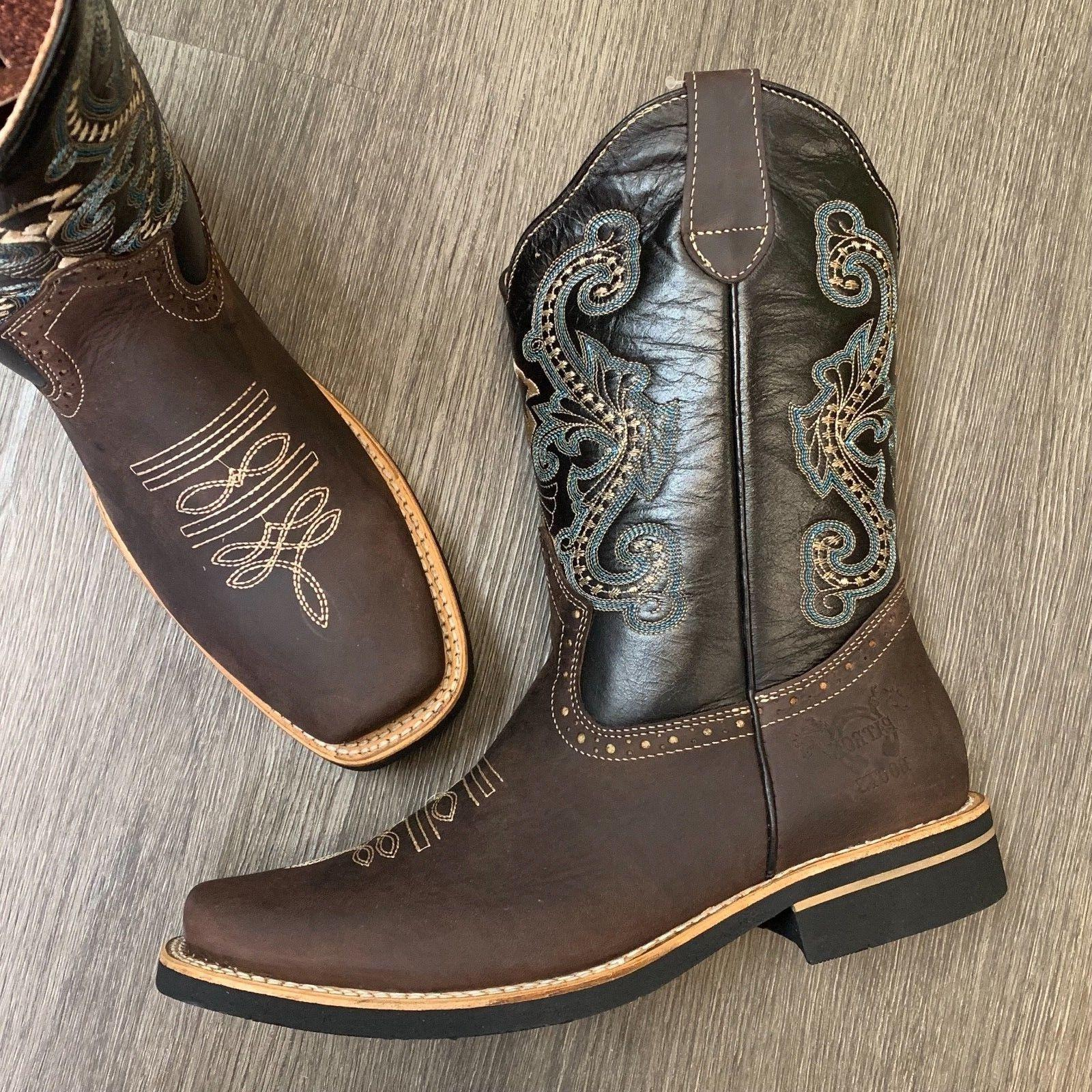 MEN'S WORK BOOTS WESTERN SADDLE