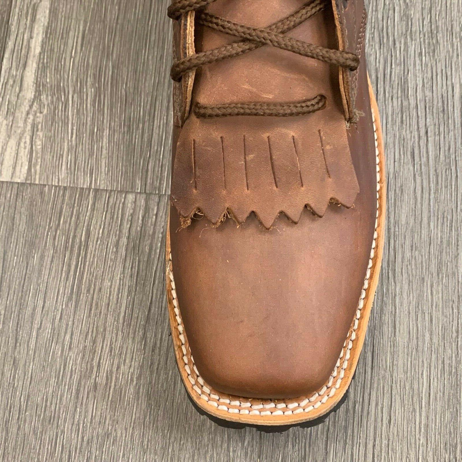 "MEN'S WORK WESTERN SOFT RUBBER SOLE 8"" SQUARE"