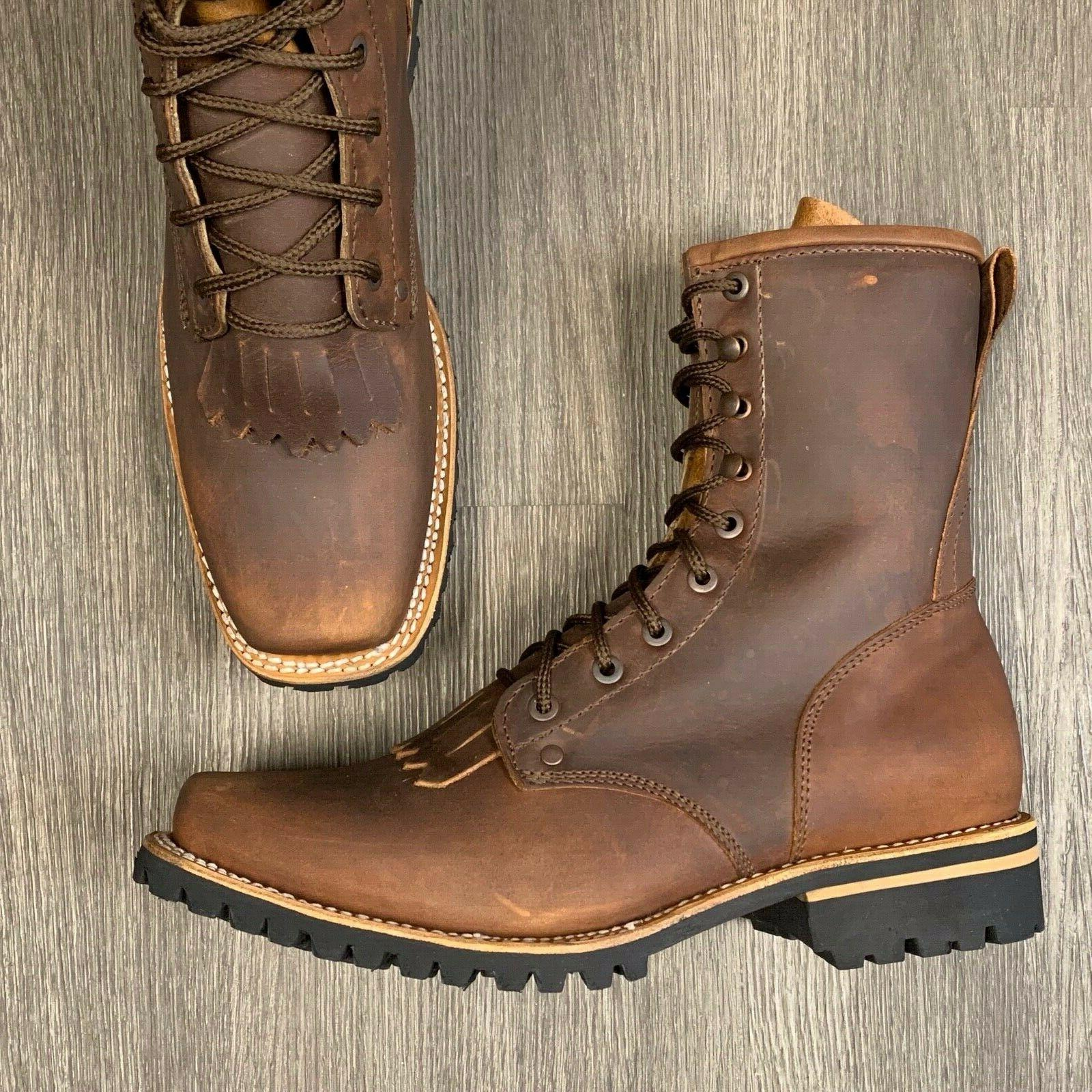 men s lacer work boots western soft